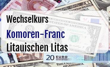 Komoren-Franc in Litauischen Litas