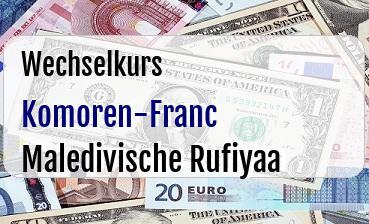 Komoren-Franc in Maledivische Rufiyaa