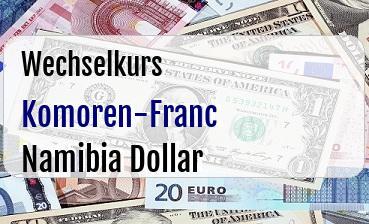 Komoren-Franc in Namibia Dollar