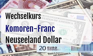 Komoren-Franc in Neuseeland Dollar