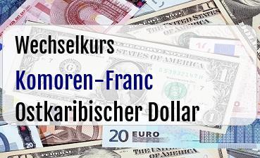 Komoren-Franc in Ostkaribischer Dollar
