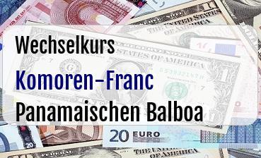 Komoren-Franc in Panamaischen Balboa