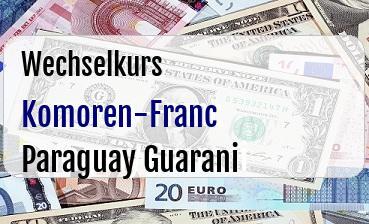 Komoren-Franc in Paraguay Guarani