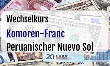 Komoren-Franc in Peruanischer Nuevo Sol