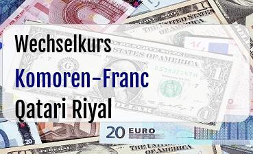 Komoren-Franc in Qatari Riyal