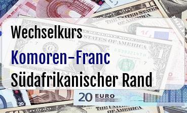 Komoren-Franc in Südafrikanischer Rand