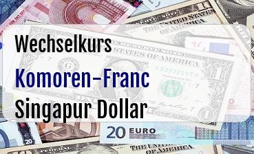 Komoren-Franc in Singapur Dollar