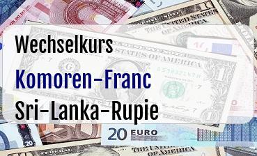 Komoren-Franc in Sri-Lanka-Rupie