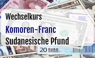 Komoren-Franc in Sudanesische Pfund