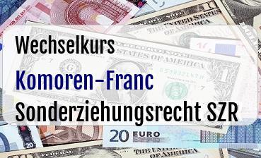 Komoren-Franc in Sonderziehungsrecht SZR