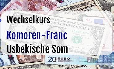 Komoren-Franc in Usbekische Som