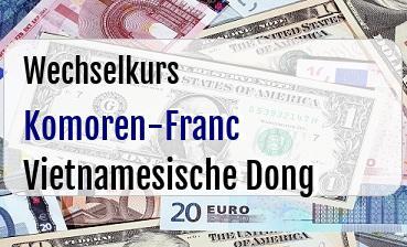 Komoren-Franc in Vietnamesische Dong