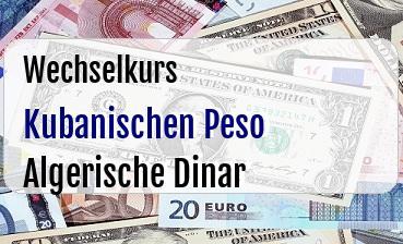 Kubanischen Peso in Algerische Dinar