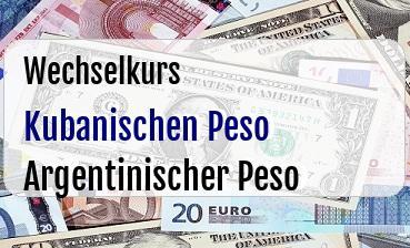 Kubanischen Peso in Argentinischer Peso