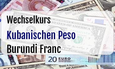 Kubanischen Peso in Burundi Franc