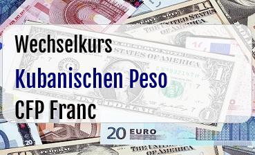 Kubanischen Peso in CFP Franc