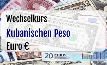Kubanischen Peso in Euro