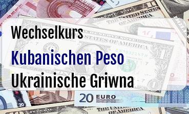 Kubanischen Peso in Ukrainische Griwna