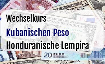 Kubanischen Peso in Honduranische Lempira