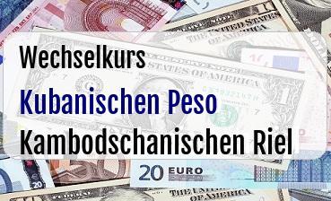 Kubanischen Peso in Kambodschanischen Riel