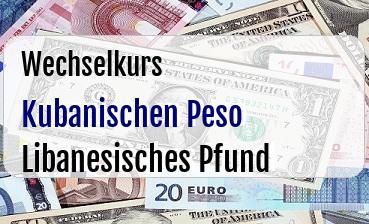 Kubanischen Peso in Libanesisches Pfund