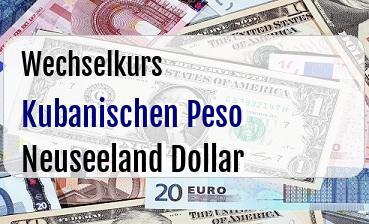 Kubanischen Peso in Neuseeland Dollar