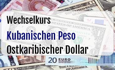 Kubanischen Peso in Ostkaribischer Dollar