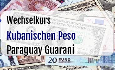 Kubanischen Peso in Paraguay Guarani