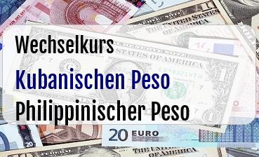 Kubanischen Peso in Philippinischer Peso