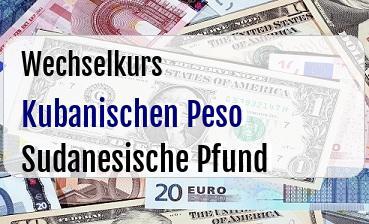 Kubanischen Peso in Sudanesische Pfund