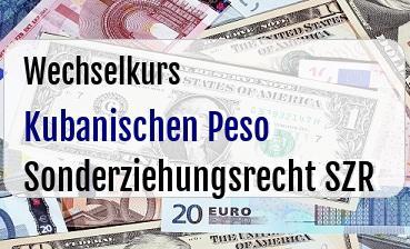 Kubanischen Peso in Sonderziehungsrecht SZR
