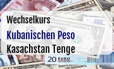 Kubanischen Peso in Kasachstan Tenge