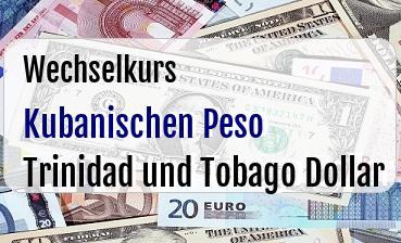 Kubanischen Peso in Trinidad und Tobago Dollar