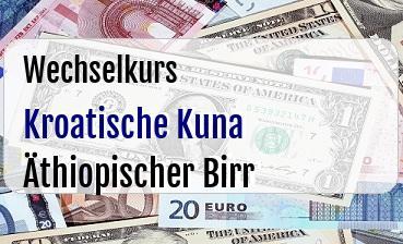 Kroatische Kuna in Äthiopischer Birr
