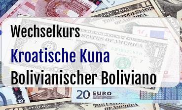 Kroatische Kuna in Bolivianischer Boliviano