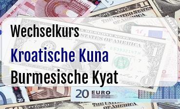 Kroatische Kuna in Burmesische Kyat