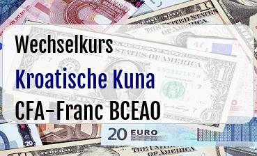 Kroatische Kuna in CFA-Franc BCEAO
