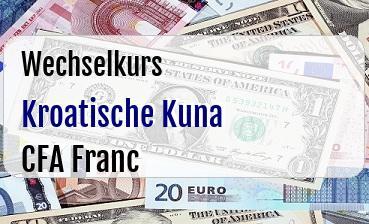 Kroatische Kuna in CFA Franc