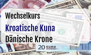 Kroatische Kuna in Dänische Krone