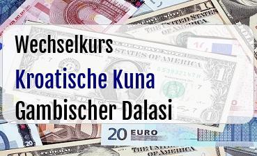 Kroatische Kuna in Gambischer Dalasi