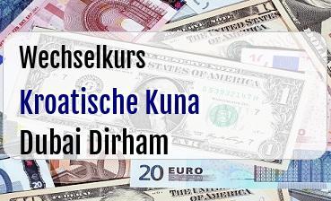 Kroatische Kuna in Dubai Dirham