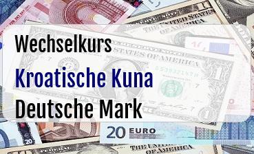 Kroatische Kuna in Deutsche Mark
