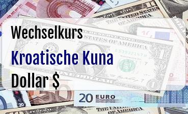 Kroatische Kuna in US Dollar