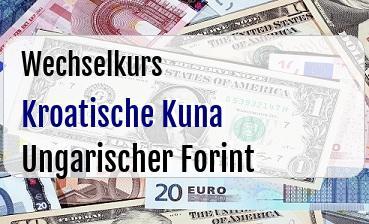 Kroatische Kuna in Ungarischer Forint