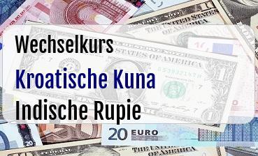 Kroatische Kuna in Indische Rupie
