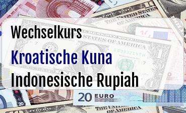 Kroatische Kuna in Indonesische Rupiah