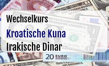 Kroatische Kuna in Irakische Dinar