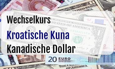 Kroatische Kuna in Kanadische Dollar