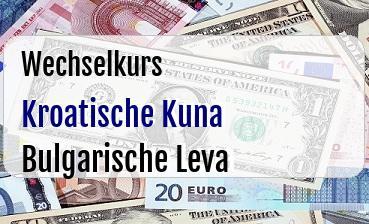 Kroatische Kuna in Bulgarische Leva