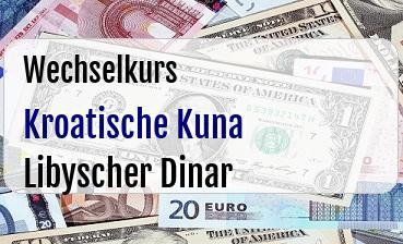 Kroatische Kuna in Libyscher Dinar